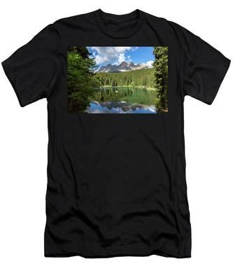 Karersee And Rosengarten Group Men's T-Shirt (Athletic Fit)