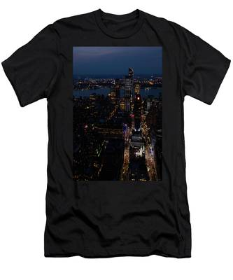 Madison Square Garden At Night Men's T-Shirt (Athletic Fit)