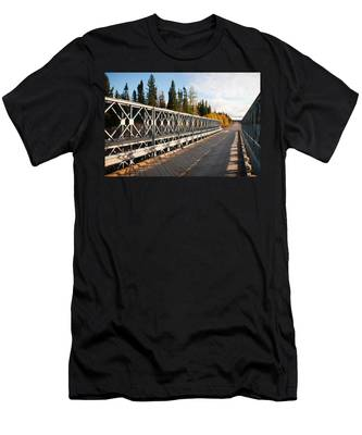 Men's T-Shirt (Athletic Fit) featuring the photograph Over The River by Carl Young
