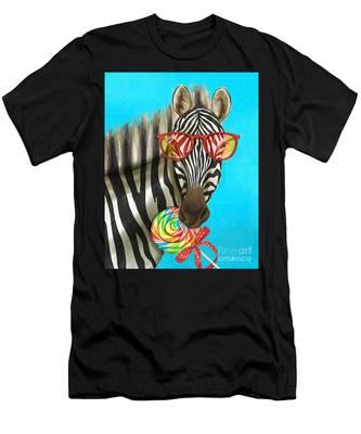 Party Safari Zebra Men's T-Shirt (Athletic Fit)