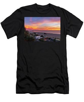 Santa Monica Pier Sunset - 11.1.18  Men's T-Shirt (Athletic Fit)