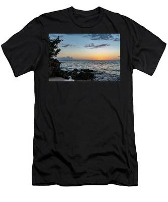 Sunset Afterglow In Negril Jamaica Men's T-Shirt (Athletic Fit)