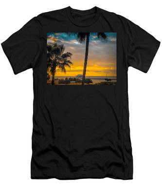 Sunset On The Island Men's T-Shirt (Athletic Fit)