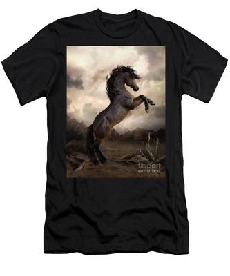 The Bay Horse Men's T-Shirt (Athletic Fit)