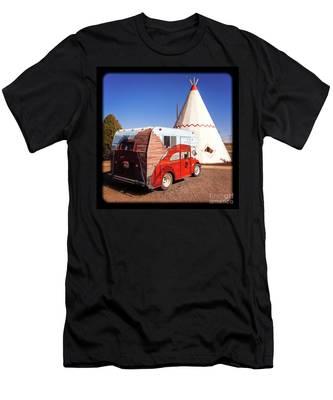 Vintage Volkswagon Beatle Camper  Men's T-Shirt (Athletic Fit)