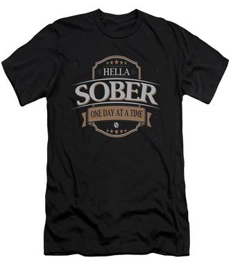 Sobriety One Day At A Time AA Sober AF Tee Tees T-Shirt