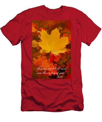 Men's T-Shirt (Athletic Fit) featuring the photograph Autumn Is A State Of Mind More Than A Time Of Year by Jeff Folger