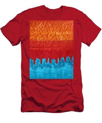 Blue Canyon Original Painting Men's T-Shirt (Athletic Fit)