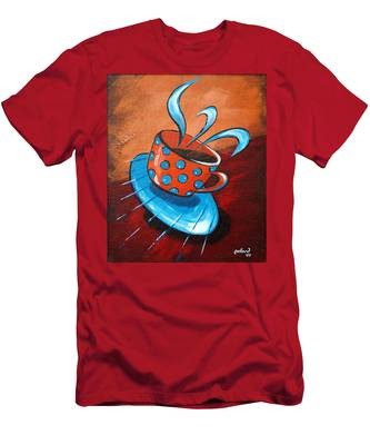 Crazy Coffee Men's T-Shirt (Athletic Fit)