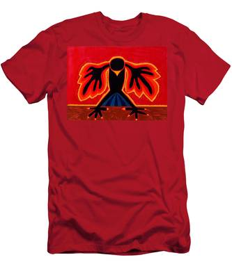 Crow Rising Original Painting Men's T-Shirt (Athletic Fit)