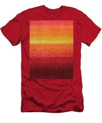 Desert Horizon Original Painting Men's T-Shirt (Athletic Fit)