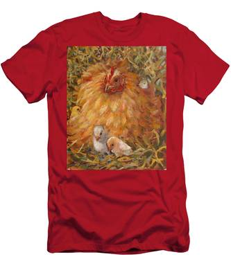 Hen And Chicks Men's T-Shirt (Athletic Fit)