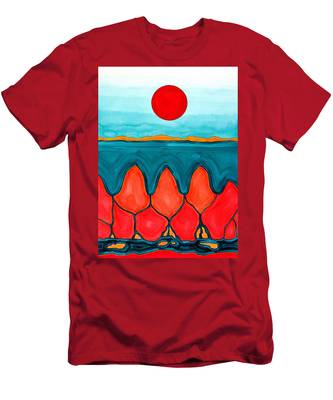 Mesa Canyon Rio Original Painting Men's T-Shirt (Athletic Fit)