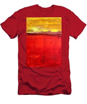Mojave Dawn Original Painting Men's T-Shirt (Athletic Fit)