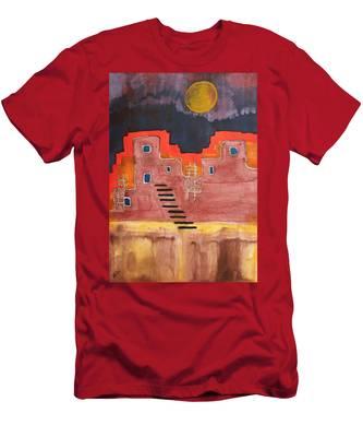 Pueblito Original Painting Men's T-Shirt (Athletic Fit)