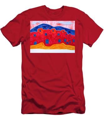 Soft Pueblo Original Painting Men's T-Shirt (Athletic Fit)