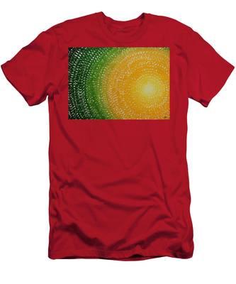 Spring Sun Original Painting Men's T-Shirt (Athletic Fit)