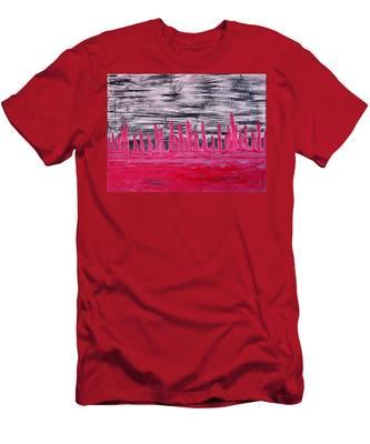 Winter Hoodoos Original Painting Men's T-Shirt (Athletic Fit)
