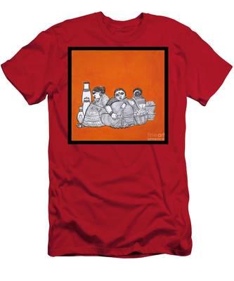 Women Vendors In Market Men's T-Shirt (Athletic Fit)