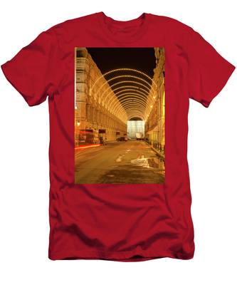 Men's T-Shirt (Athletic Fit) featuring the photograph Red Square In Moscow At Night by Michael Goyberg