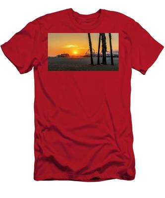 Golden Glow At Sunset Men's T-Shirt (Athletic Fit)