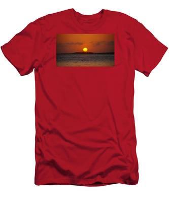 Sunset Seven Mile Bridge Men's T-Shirt (Athletic Fit)