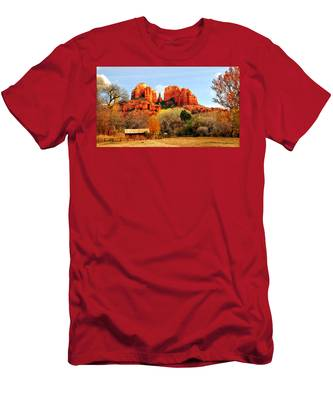 Cathedral Rock Men's T-Shirt (Athletic Fit) by Howard Bagley