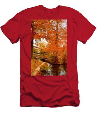 A Morning In Autumn - Lake Carasaljo Men's T-Shirt (Athletic Fit)