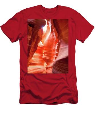 Men's T-Shirt (Athletic Fit) featuring the photograph Antelope Canyon 2 by Howard Bagley