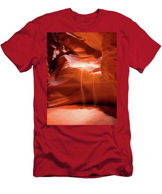 Men's T-Shirt (Athletic Fit) featuring the photograph Antelope Canyon - The Falls by Howard Bagley