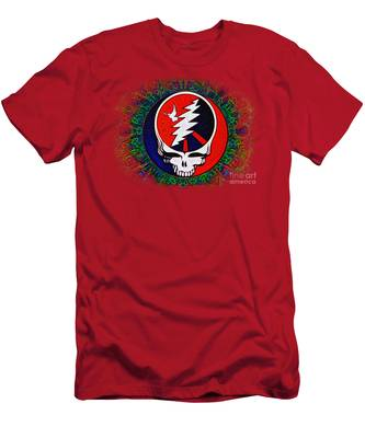 Men's T-Shirt (Athletic Fit) featuring the painting Grateful Dead by Bill Cannon
