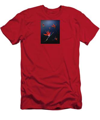 Men's T-Shirt (Athletic Fit) featuring the digital art Birds Of Paradise by Teresa Epps