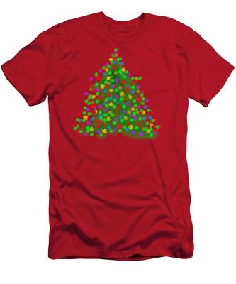 Christmas Tree Men's T-Shirt (Athletic Fit)