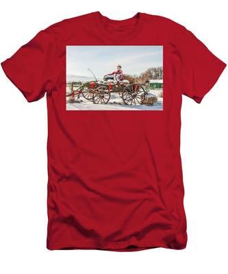 Cowboy Santa Taking A Quick Break Men's T-Shirt (Athletic Fit)
