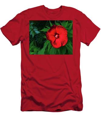 Dynamic Red Men's T-Shirt (Athletic Fit)