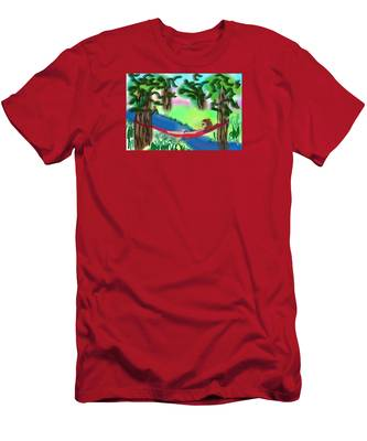 Hammock Under The Chihuahua Trees Men's T-Shirt (Athletic Fit) by Teresa Epps