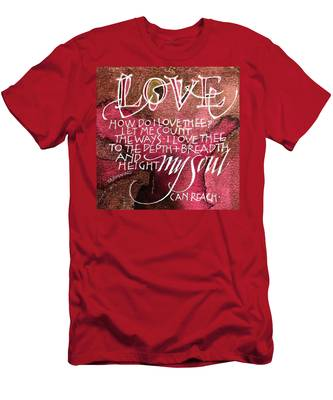 Inspirational Saying Love Men's T-Shirt (Athletic Fit)