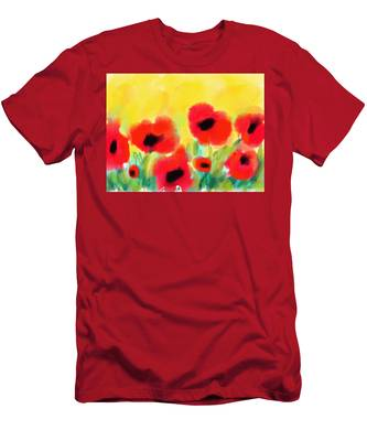 Just Poppies Men's T-Shirt (Athletic Fit)