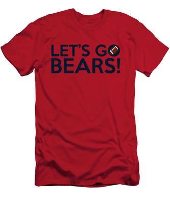 Let's Go Bears Men's T-Shirt (Athletic Fit)