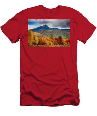 Men's T-Shirt (Athletic Fit) featuring the photograph Peak Fall Colors On Mount Chocorua by Jeff Folger