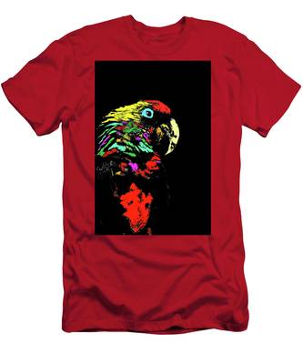 Men's T-Shirt (Athletic Fit) featuring the photograph My Colorful Mccaw by Howard Bagley
