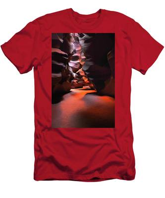 Men's T-Shirt (Athletic Fit) featuring the photograph Navajo Magic Antelope Canyon by Howard Bagley