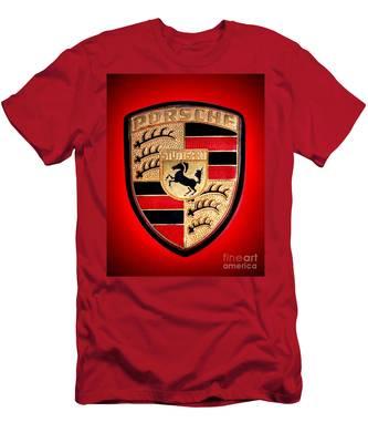 Old Porsche Badge Men's T-Shirt (Athletic Fit)