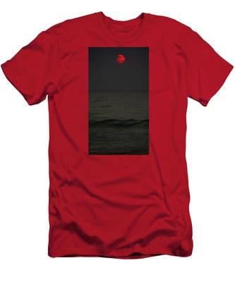 Orange Onyx Sunrise Men's T-Shirt (Athletic Fit)