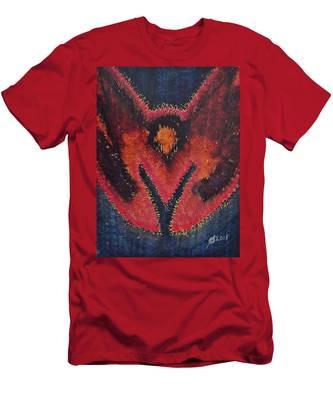 Phoenix Rising Original Painting Men's T-Shirt (Athletic Fit)