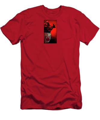 Men's T-Shirt (Athletic Fit) featuring the digital art Poppies And Roses by Teresa Epps