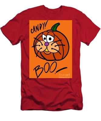 Pumpkincat Men's T-Shirt (Athletic Fit)