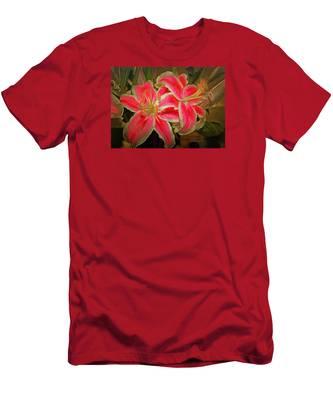 Star Gazer Lilies Men's T-Shirt (Athletic Fit)