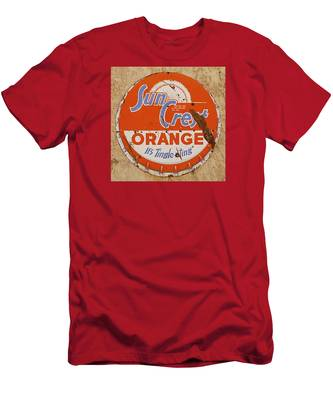 Suncrest Orange Soda Cap Sign Men's T-Shirt (Athletic Fit)