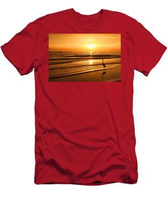 Sunset Gold Men's T-Shirt (Athletic Fit)